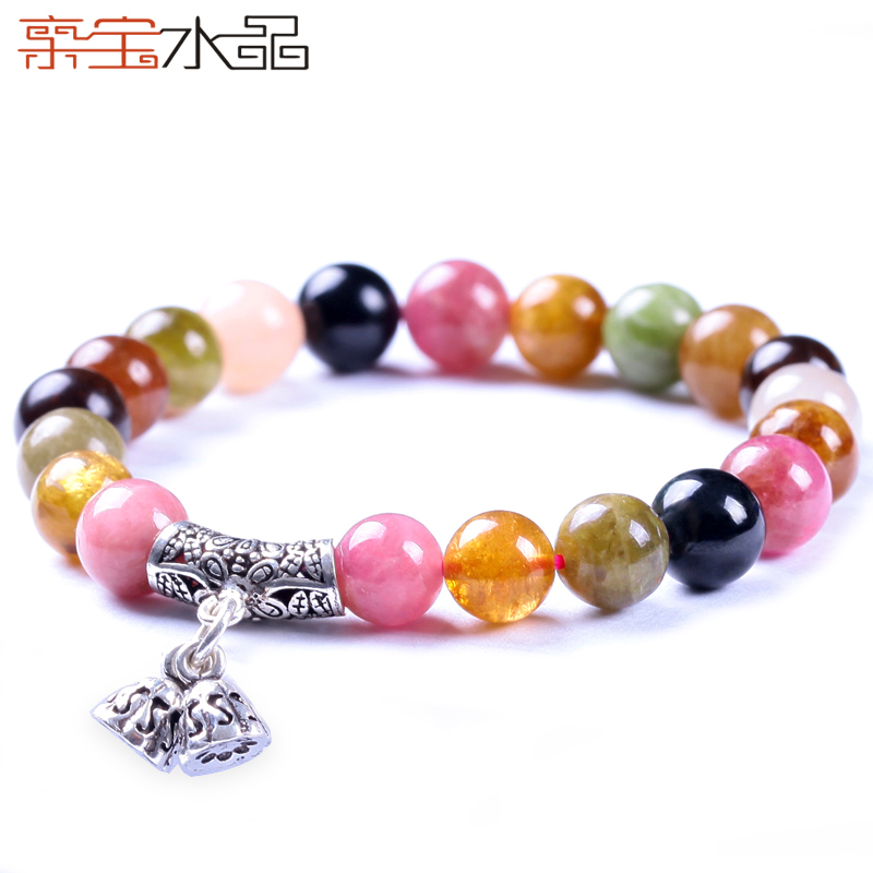 Cristal naturel tourmaline bracelet de mode Femmes 925 argent cristal accessoires valentine cadeau du jour