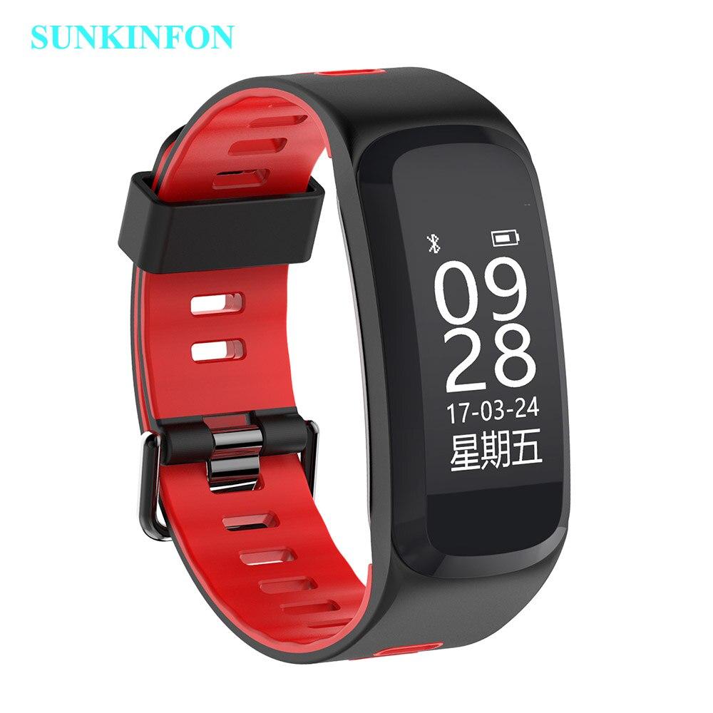 F7 pulsera reloj inteligente presión sangre oxígeno Monitor de ritmo cardíaco rastreador de ejercicios inteligente pulsera para IOS Android Mi banda 2 - 2