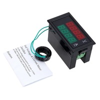 Voltmeter AC80 300V Digital Ammeter LCD Voltmeter Ammeter Electrician Tool Dual Display 0 100A Panel Amp Voltage Meter DL69 2042