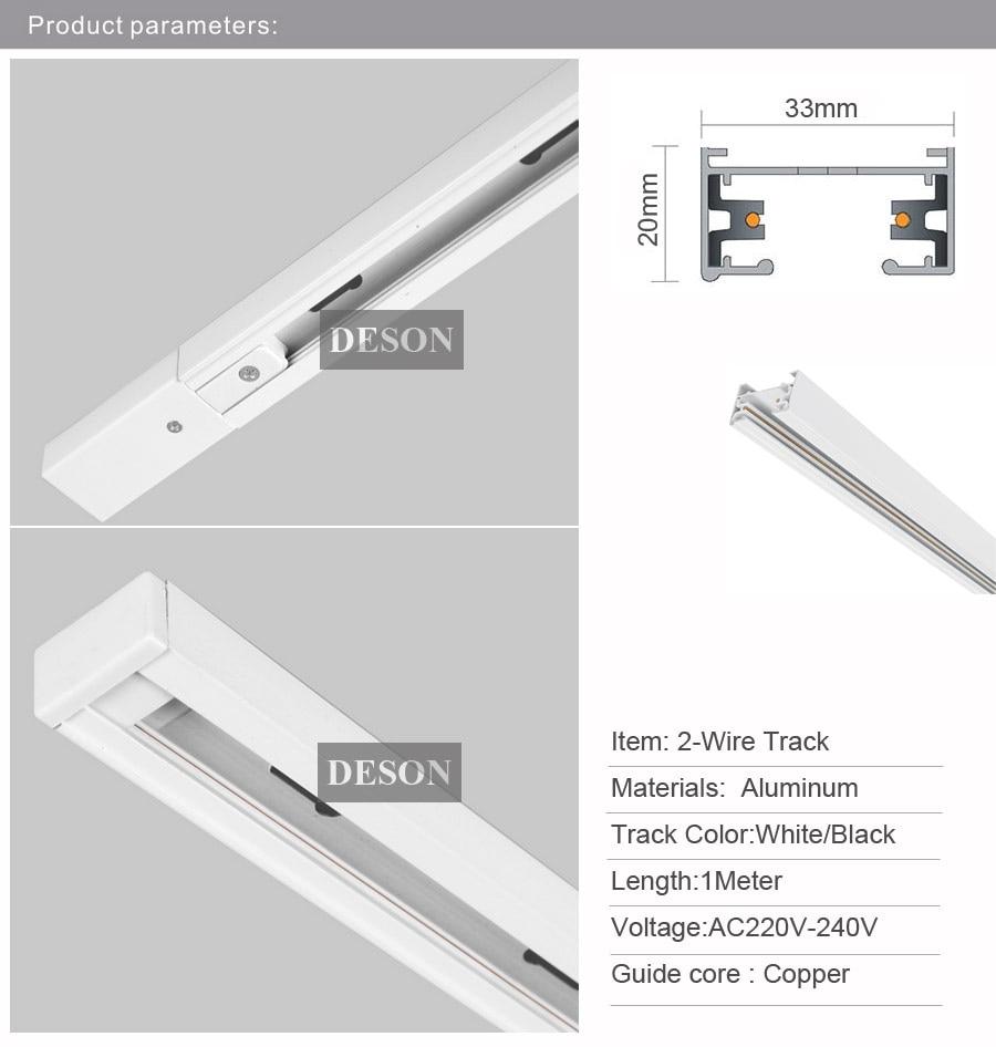 Single Wire Track Lighting 15w Dimmable Led Light Davoluce Jesco Wiring Diagrams Dhl 1m 2 Circuit Aluminium Rail