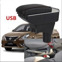 Car Armrest For Nissan VERSA Sedan Latio Sunny 2012 2018 Armrest Storage Box Renault Scala Rotatable 2013 2014 2015 2016 2017
