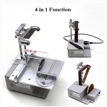 Electric Belt Sander Mini Ponceuse Multi-function Cutting Machine Table Saw DIY Woodworking Desktop Sanding Grinding Machine