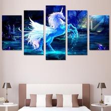 Winged Unicorn Modular Canvas Painting