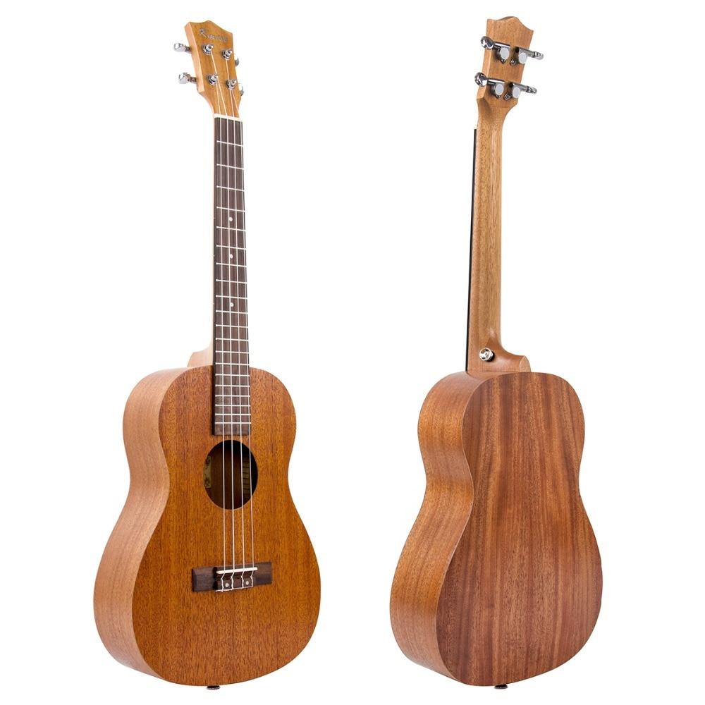 Kmise baryton ukulélé 30 pouces acajou Ukelele Uke 4 cordes Hawaii guitare - 4