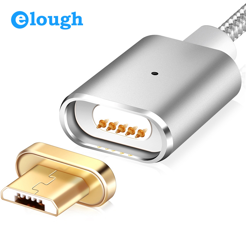 Elough Magnetic Charger Magnetic Cable Micro USB Cable Nylon For Xiaomi Android Phone Fast Charge Magnet Charger Micro USB Cable
