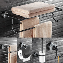 Прозрачные кристально-черные наборы аксессуаров для ванной комнаты, античные масляные бронзовые аксессуары для ванной комнаты, латунные аксессуары для ванной комнаты