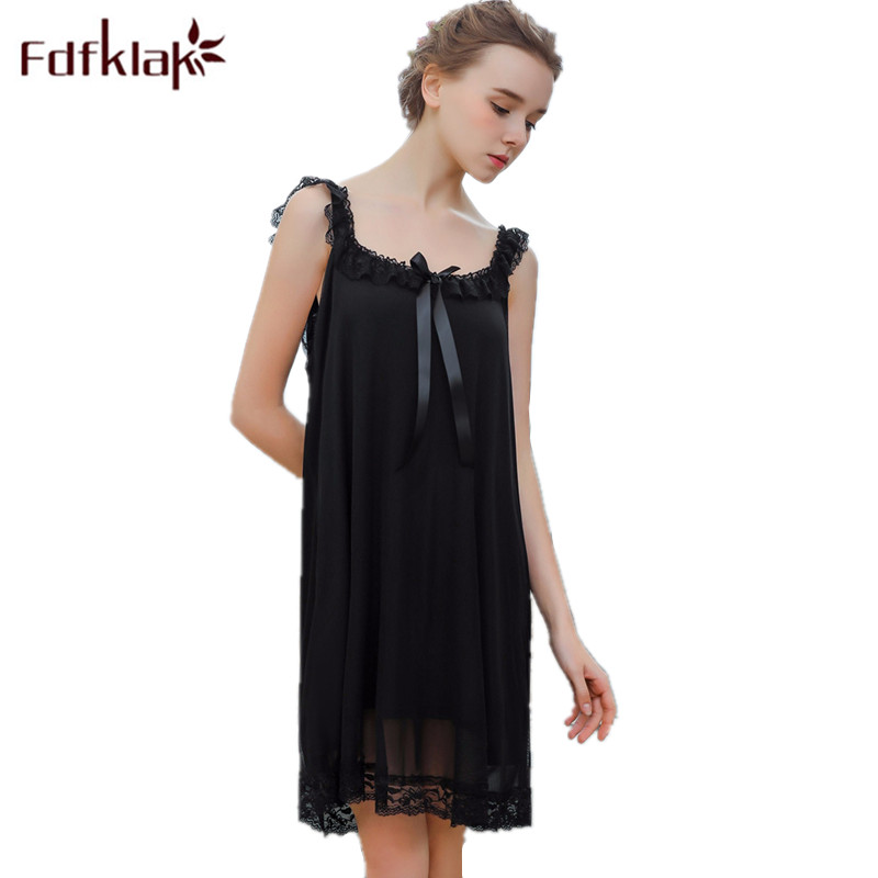 Fdfklak Summer Spaghetti Strap Sexy Women Nightwear Night Lingerie Dress For Dancing Sleepwear Women Sleeping Dress Sexy Q853