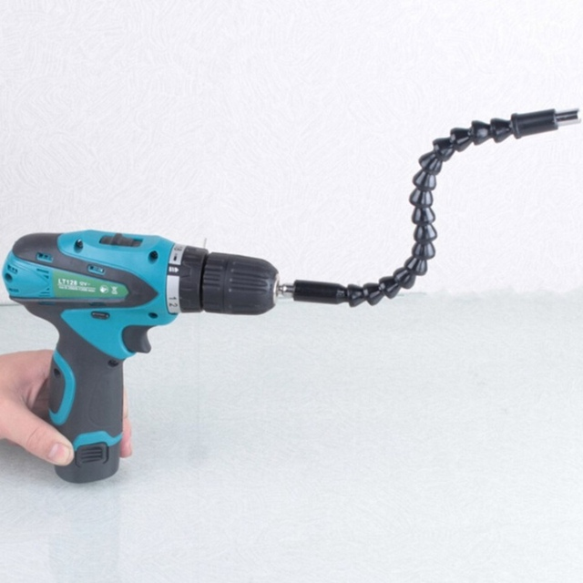 1 cái khoan điện screwdriver bit đa chức năng phổ Rắn flexible hose trục Các Đăng kết nối mềm thanh mở rộng