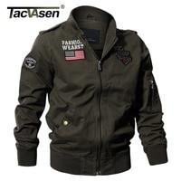TACVASEN Military Tactical Jacket Men Autumn Jacket Coat Army Pilot Jackets Air Force Flight Cargo Coat