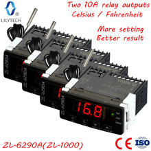 ZL-6290A, 4 pcs pack, Celsius Fahrenheit option, Similar to STC-1000, ITC-1000, Dual 10A outputs, Thermostat, STC 1000