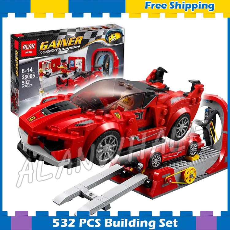 532pcs New Speed Champions 28005 FXX K & Development Model Building Blocks Cars Viechle Bricks Gifts Sets Compatible With Lego kazi 608pcs pirates armada flagship building blocks brinquedos caribbean warship sets the black pearl compatible with bricks