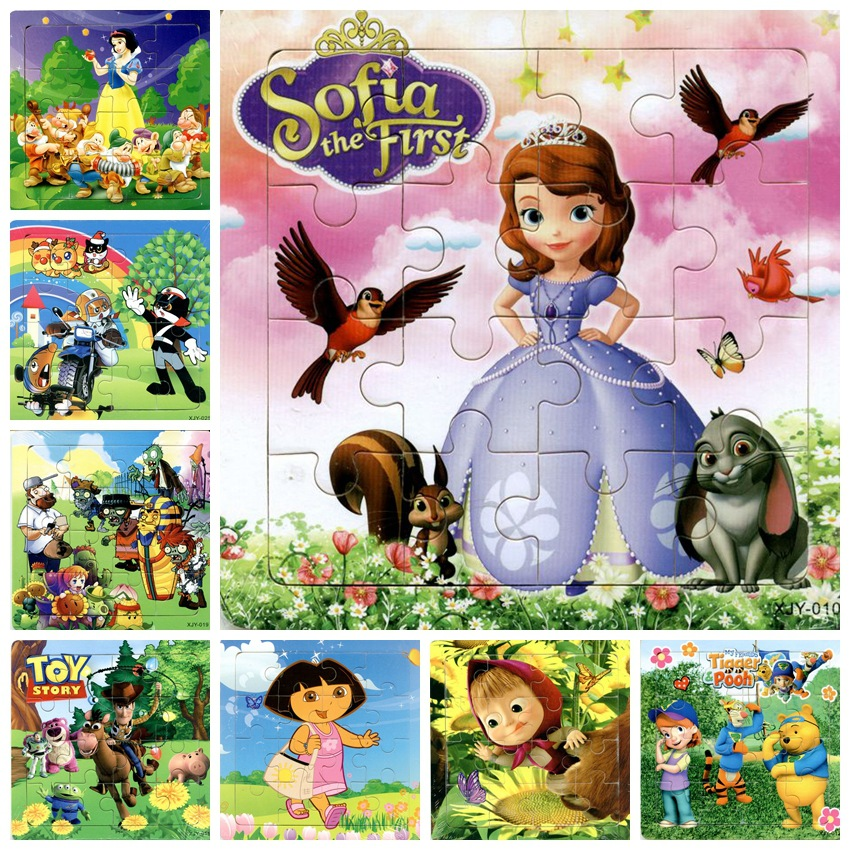 24 models Educational Wooden Jigsaw Puzzles Toys Kids Baby Games Toy princess Wood Puzzles For Children Cartoon Learning Toys wooden 3d puzzle jigsaw wooden toys for children cartoon animal puzzles intelligence kids children educational toy toys