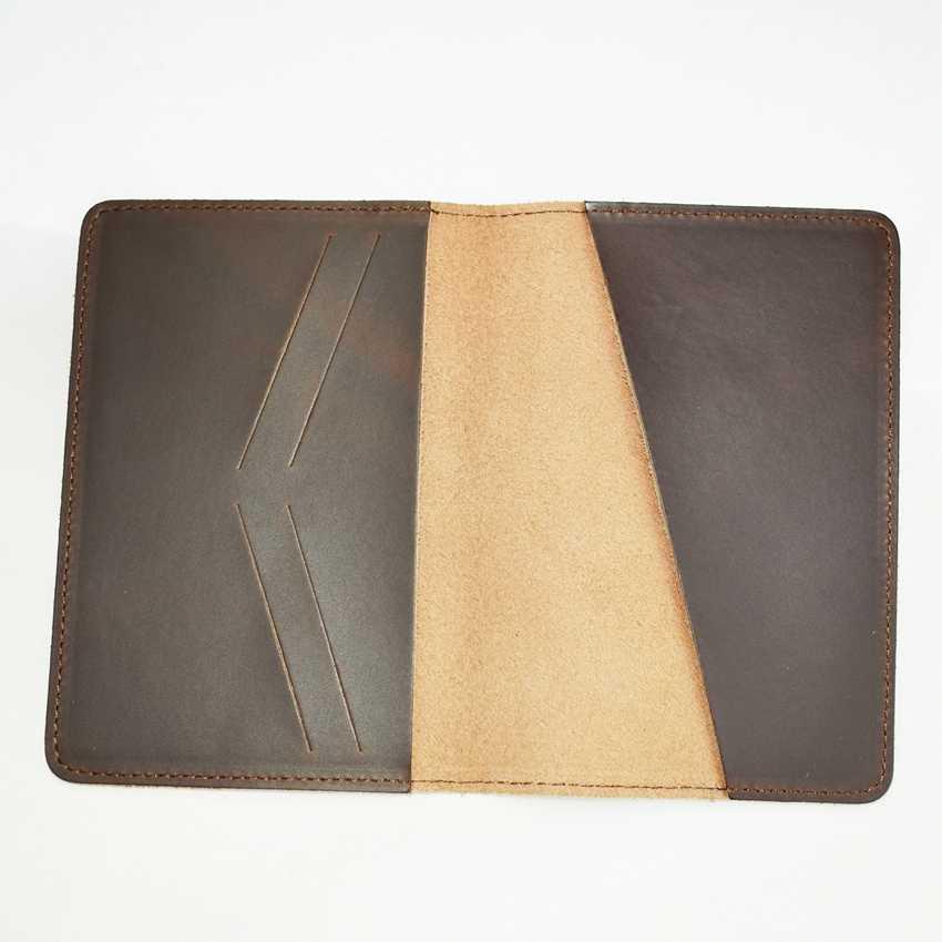 ジョージアパスポートホルダートラベルケース男性カードホルダークレジットカード & ID カード財布の女性の革カバーパスポート財布