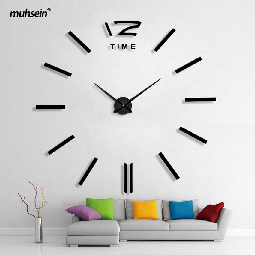 Ev Dekorasiya Divar Saatı Böyük Güzgü Divar Saatı Müasir - Ev dekoru - Fotoqrafiya 3