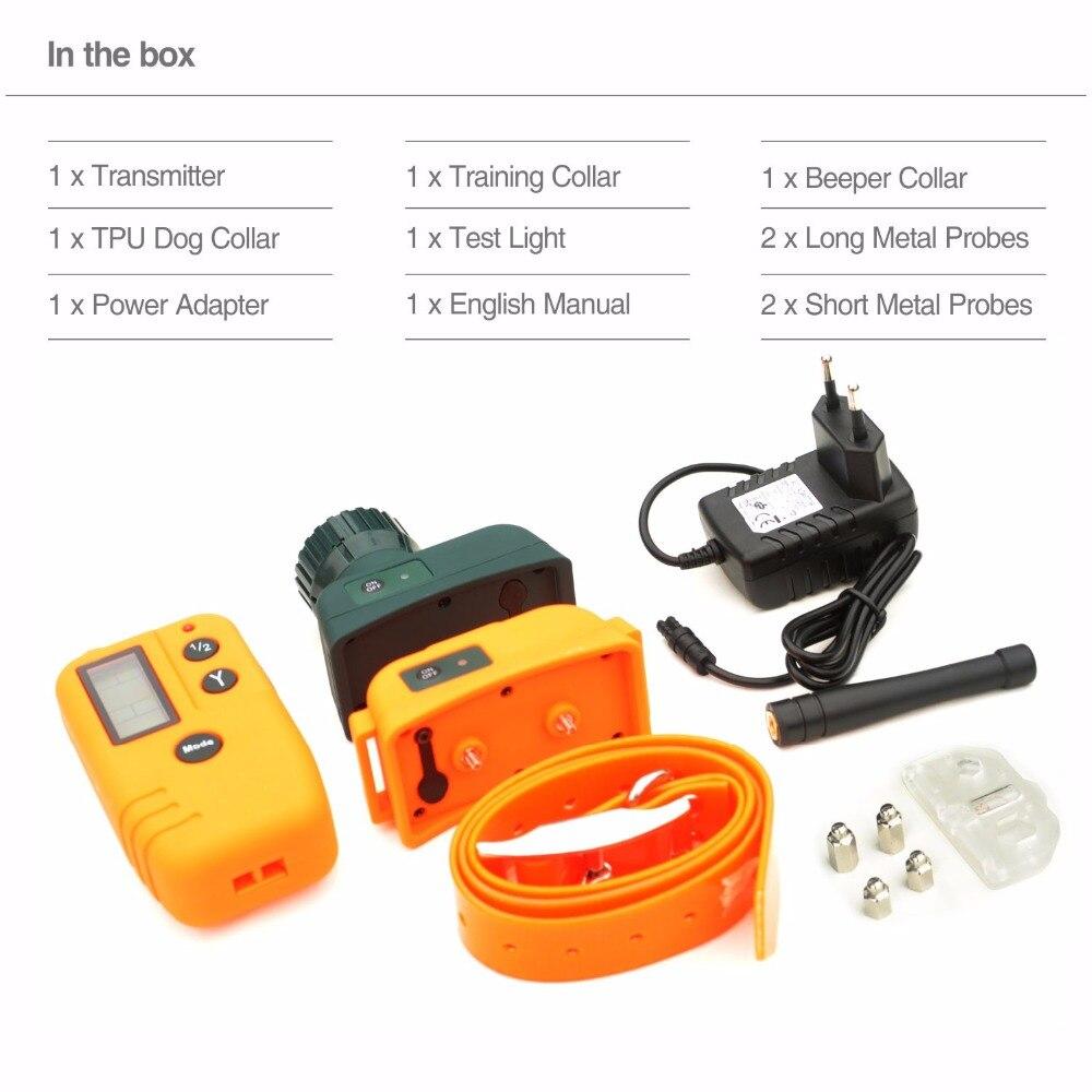 Collier de dressage de chien électrique à distance collier de Beeper Rechargeable télécommande pour animaux de compagnie imperméable grand collier de dressage de chien