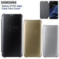 Samsung Original Mirror Clear View Smart Cover Phone Case EF ZG930 For Samsung Galaxy S7 Edge