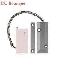 (1 pcs) Link de codificação automática de Rolamento Sensor Magnético Da Porta sem fio 433 Mhz para sistema de alarme de segurança Em Casa de alarme de Porta aberta