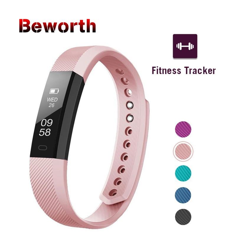 Fitness Tracker Smart pulsera ID115 banda Bluetooth Monitor de actividad despertador vibración deportes Wristband para iPhone Android