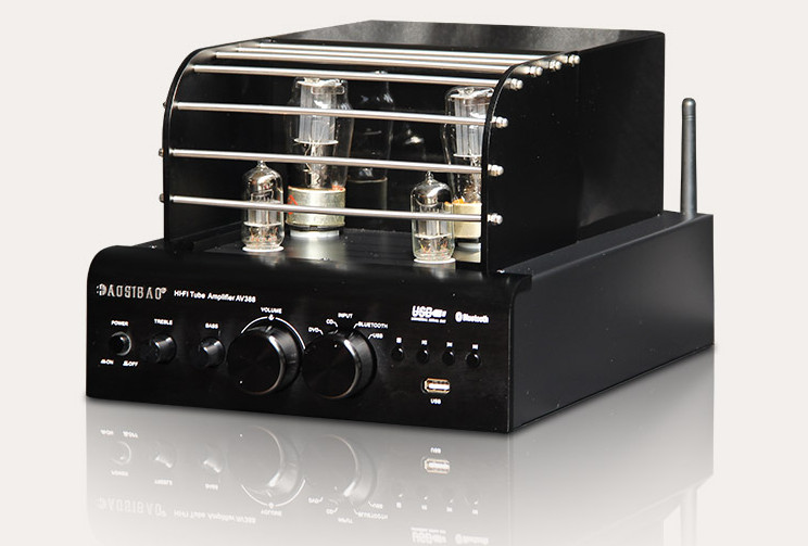 AV-388 <font><b>tube</b></font> amplifer 6N13P *2 + 6F1 *2 <font><b>tube</b></font> <font><b>preamplifier</b></font> C5198 A1941 HiFi amplifier <font><b>bluetooth</b></font> 4.0 USB APE FLAC MP3 decoding image