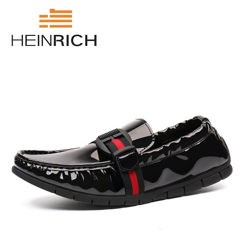 Casual Moda Black De Heinrich En Mocasines Hombres Verano Marca Transpirables Deslizamiento Genuino Lujo Zapatos Cuero Otoño Zxw5Eq5gT
