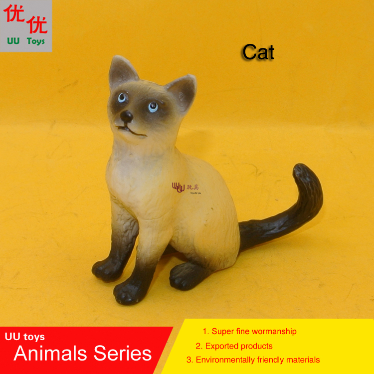 Hot toys: Cat Simulation model  Animals  kids  toys children educational props