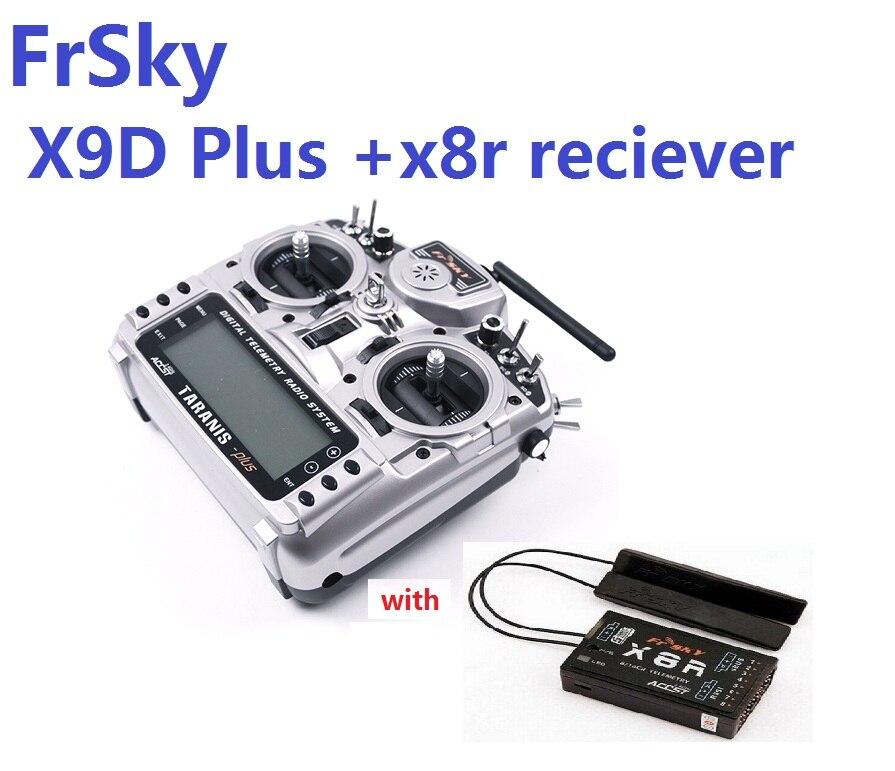 FrSky Taranis X9D Plus émetteur 2.4G avec batterie de réception x8r paquet de Carton pour modèle RC
