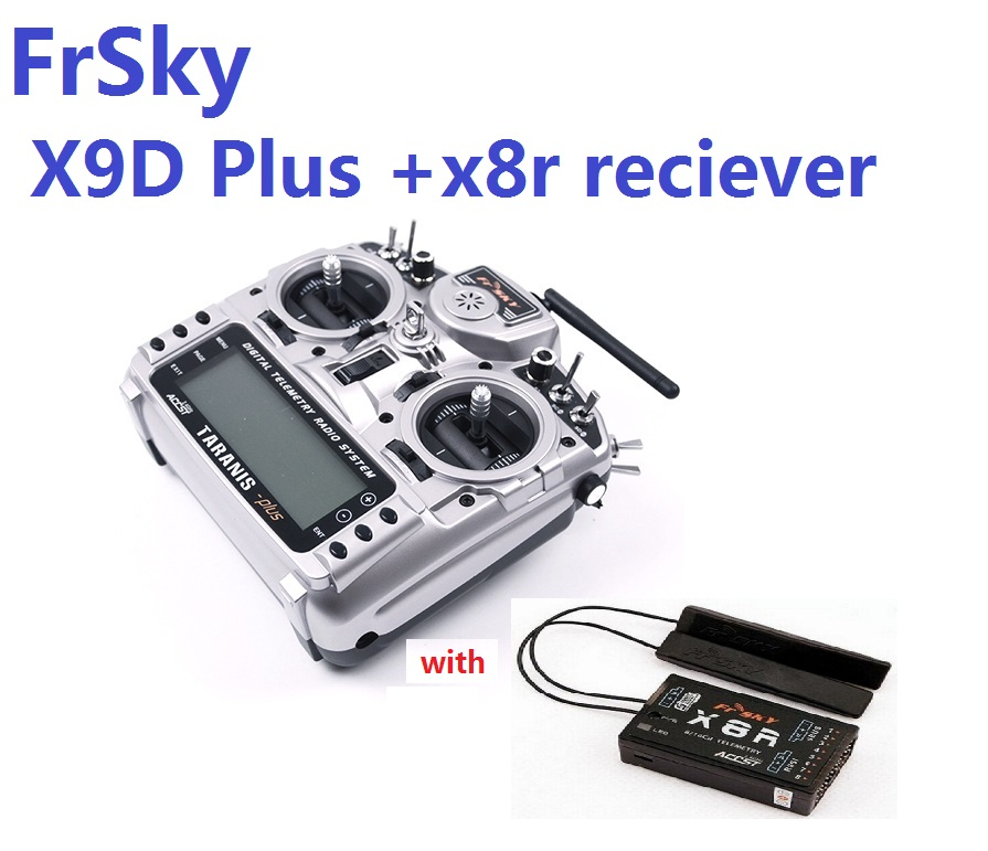 FrSky Taranis X9D Plus 2.4G ACCST Émetteur avec x8r récepteur batterie Carton Paquet Pour RC Modèle