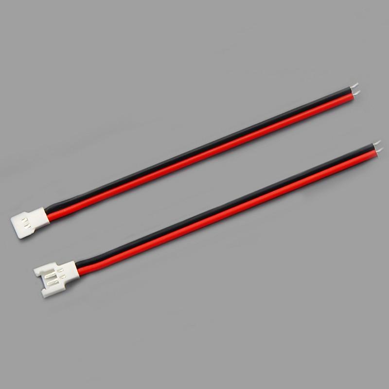 Силиконовый провод с штекерным разъемом, клеммный провод JST TAMIYA SM 2 P, штекер для мужчин и женщин, соединители проводов, красный и черный провод - Цвет: 51005 2pairs