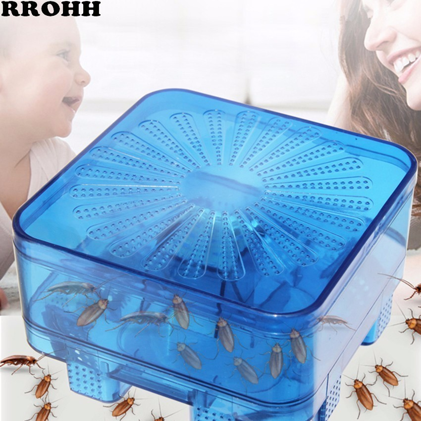 Efficient Reusable Cockroach Pest Traps with Bait Non Toxic Eco Cockroach Bug Catcher Catch Insect Pest Killer Traps Repeller-in Traps from Home & Garden
