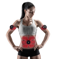 KONGDY Absorb Fat Fitness Shock Stickers 1 Set Chargeable Wireless Electrical Muscle Stimulator Training Fitness Massager Device