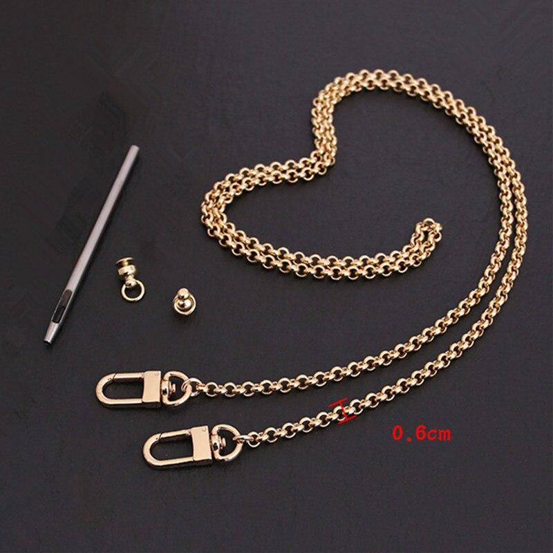 Bag Parts & Accessories Brand Bags Chain Golden 100cm 130cm Handbag Chain Optional Size