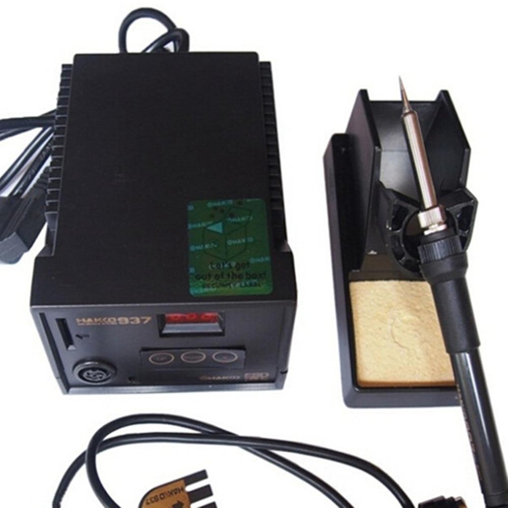 ФОТО Free ship AC220V Eu plug High quality with HAKKO 907 soldering iron handle Esd digital Welding machine solder iron station