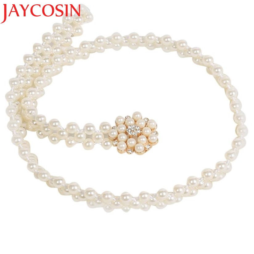 JAYCOSIN New Fashion Women's Lady Fashion Rhinestone Pearl Belt Body Chain Strap Drop Shipping
