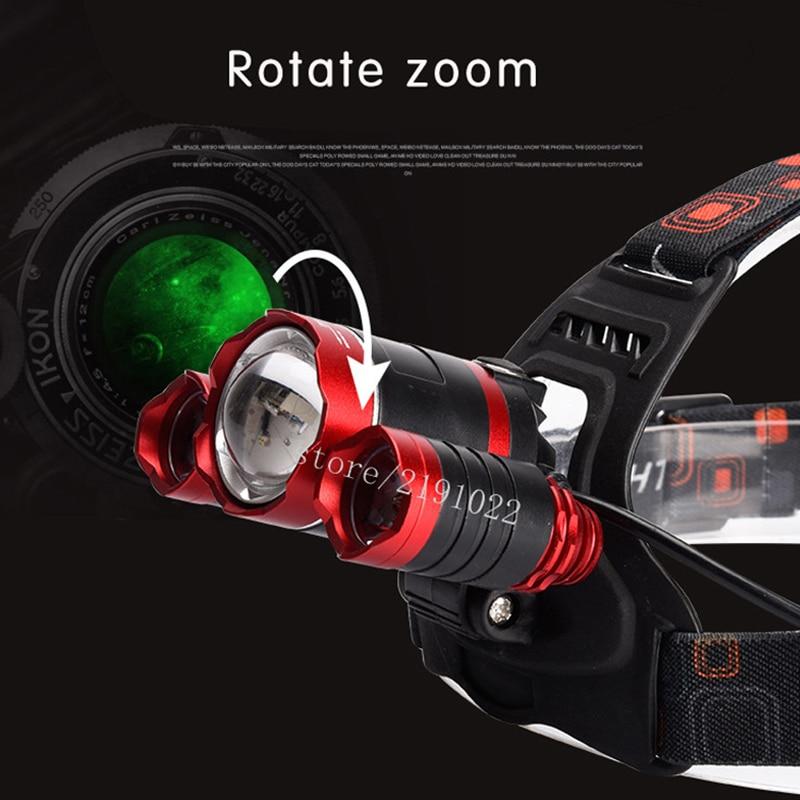 9000Lm Led Lighting Head Lamp T6 2Q5 LED Headlamp Headlight Camping Fishing Light 2 18650 Battery Car EU US AU UK Charger 1 USB in Headlamps from Lights Lighting