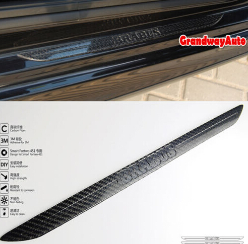 ФОТО Carbon fiber Scuff plate Door sill Guards For MERCEDES BENZ SMART FORTWO 451