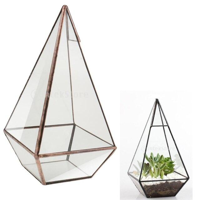neue handgemachte bonsai pyramide glas geometrische terrarium box tabletop sukkulenten pflanzer. Black Bedroom Furniture Sets. Home Design Ideas