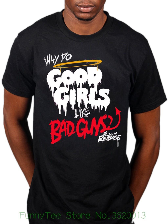 90b4a446990 Official Falling In Reverse Good Girls Like Bad Guys T shirt Rock ...