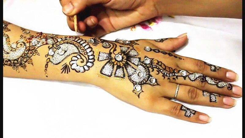 M-Theory Mehndi Henna Body Paint 25g Temporary Tattoos Glitter Mehndi Arts Flash Tatoos Summer Bikini Swimsuit Dress Makeup Tool 4
