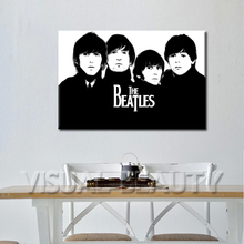 FREE SHIPPING The most Popular The Beatles Rock Band Poster Canvas Print Painting(Unframed)50x75cm
