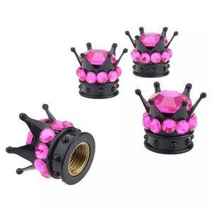 4 шт. хромированные колпачки для клапанов ABS/Wheel Stem, колпачки для автомобильных и грузовых колесных заглушки, 6 цветов, желтые, розовые, фиолет...