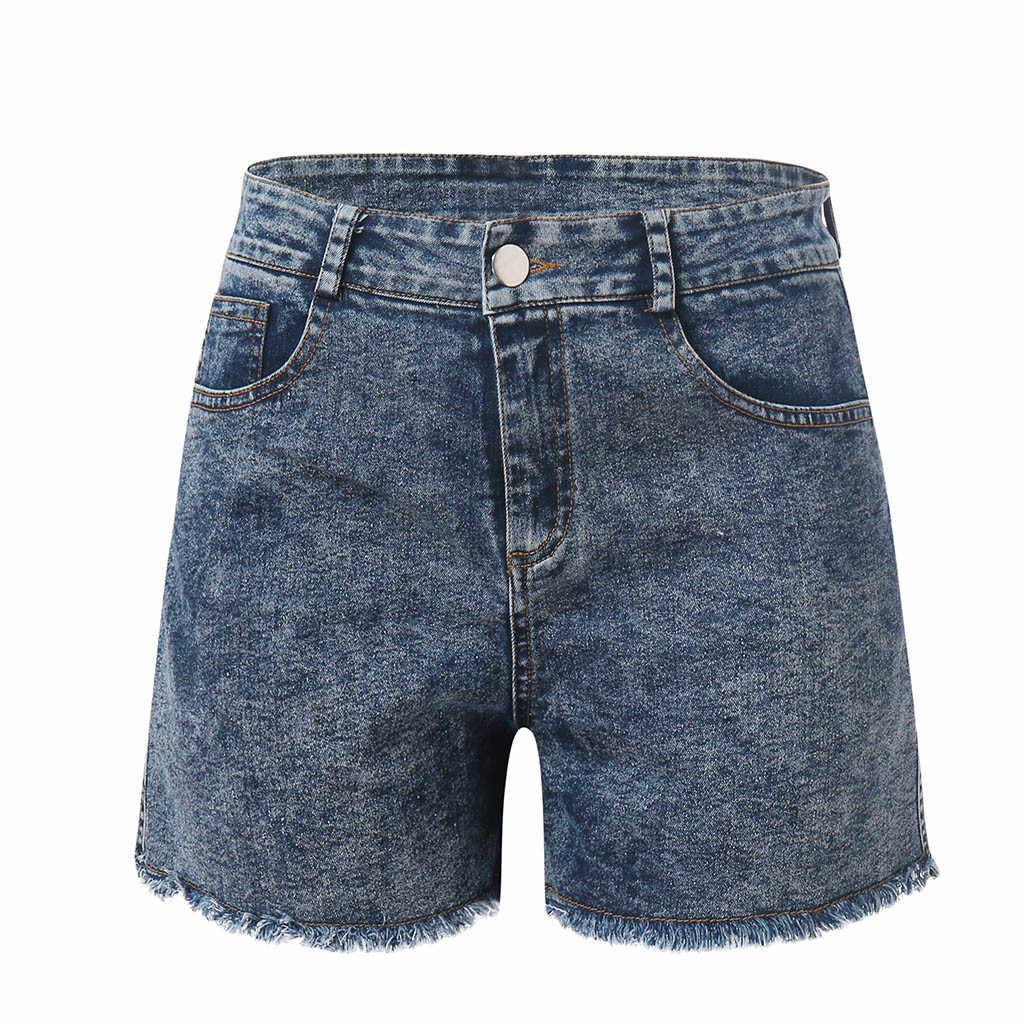 ใหม่ Elegant แฟชั่นผู้หญิงฤดูร้อนเอวสูงกางเกงยีนส์กางเกงขาสั้นกางเกงยีนส์ผู้หญิงสั้น 2019 ใหม่ Femme Push Up Skinny Slim Denim กางเกงขาสั้น