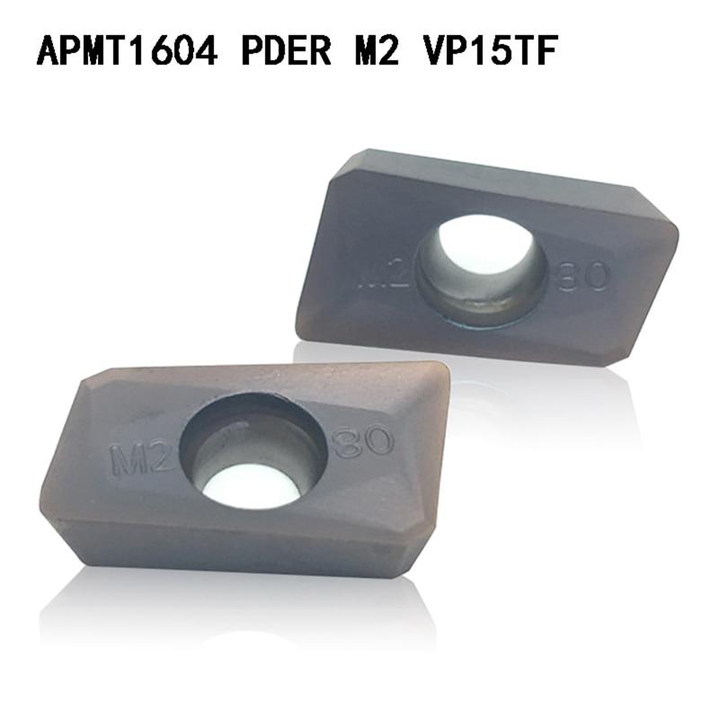 APMT1604 M2 VP15TF Carbide Inserts Turning Tool APMT 1604  Face Mill Lathe Tools Milling Cutter CNC Tool  APMT1604PDER