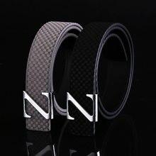 4ee87e75d502 2018 nouveau hot designer ceinture hommes marque de luxe de haute qualité  lisse Z boucle en cuir ceinture hommes cinto cinturon .