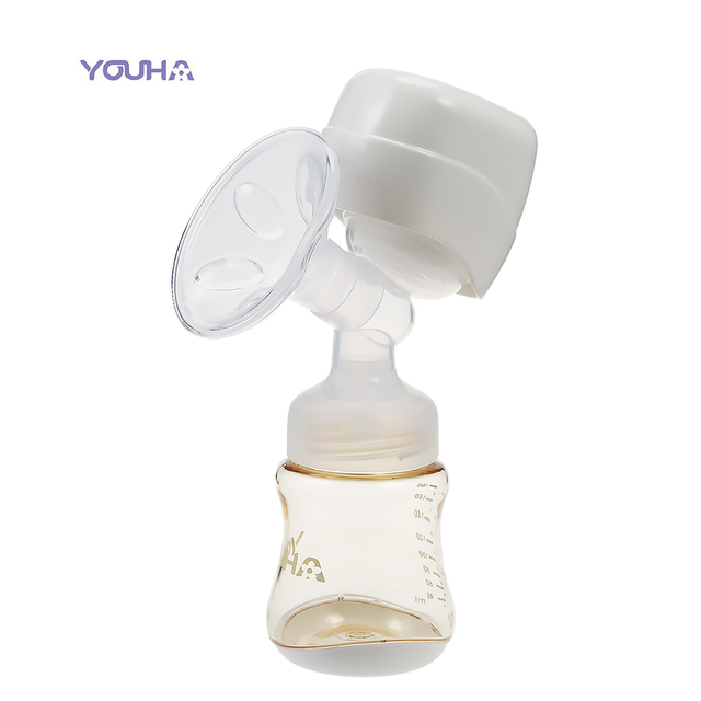 YOUHA Integration Electric Breast Pump With Baby Milk Bottle Machine Automatic Breast Pumps Electric Breast Feeding Baby Feeding