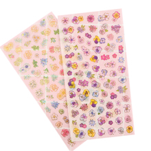 6pcs/lot seasons of flowers Romantic Style Paper Sticker Students Decoration Label Dairy Decor