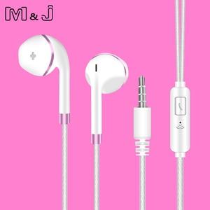 Image 2 - Оригинальные наушники M & J V5, запатентованные полувкладыши, стереонаушники, басовая гарнитура с микрофоном для телефона, MP3, ПК