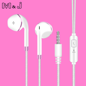 Image 2 - Original M&J V5 Earphone Patent Half In ear Headphone Stereo Earbuds Bass Headset with Microphone for Phone MP3 PC