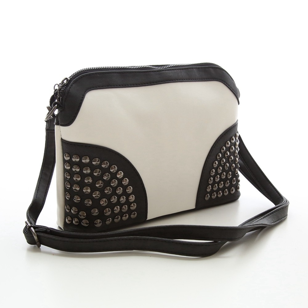 Rivet Shoulder Women Bag Vintage Scrub Shell Messenger Bags Chain Strap Crossbody Bag Clutch Bolsa Feminina Herald Fashion Brand (8)