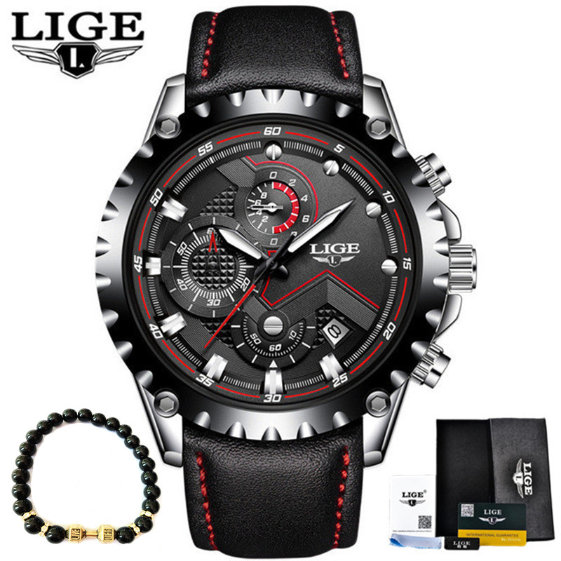 LIGE Luxury Sports Quartz Wrist Watch for Men 1