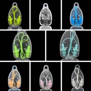 Image 2 - 1PCS Universal Soft Silicone Swimming Ear Plugs Earplugs Pool Accessories Water Sports Swim Ear Plug 8 Colors